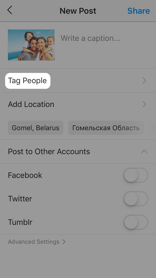 How to tag people on Instagram?