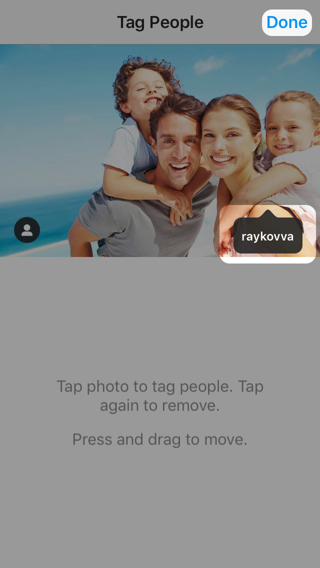 How to tag peopl on Instagram?